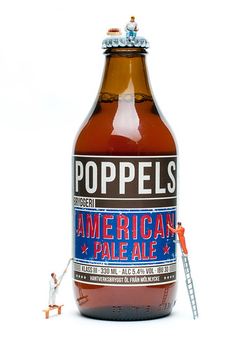 New American Pale Ale from Poppel's brewery - Beer created by the little people by Brintam