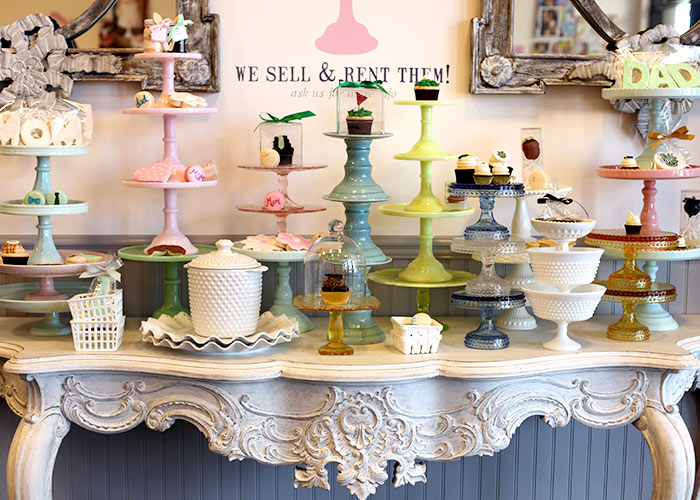 Cake Stands at Sweet and Saucy