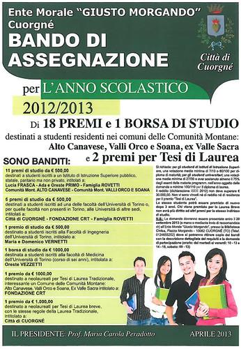 Bando di assegnazione 2012/2013 18 premi e 1 borsa di studio