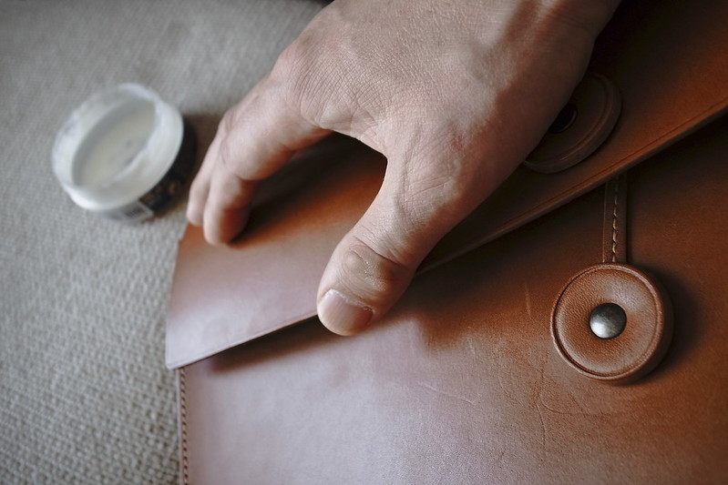 polishing leather