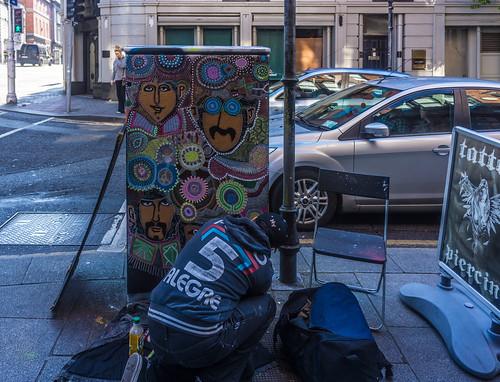 Dublin Street Art - Artist at Work by infomatique