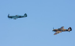Spitfire and Hurricane at BOA 70th anniversary