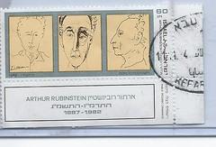 11674  U. S. Israel Jewish Musician Arthur Rubenstein Stamp