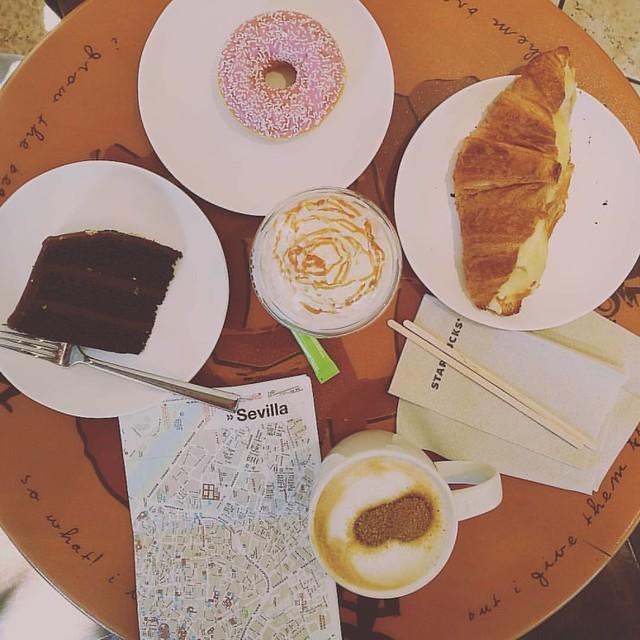 Breakfast in Sevilla  #breakfastpic #breakfast #sevilla #siviglia #coffee #frappuccino #starbucks #andalusia