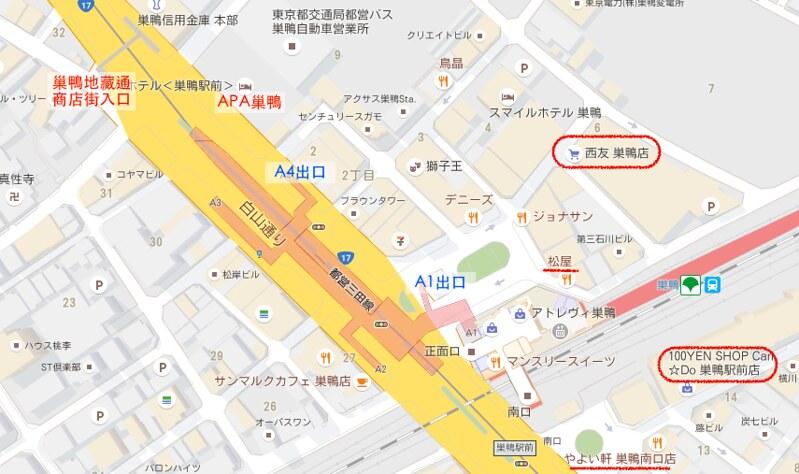 APA巢鴨map