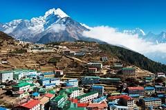 Namche Bazar, Hauptort der Sherpa im Everest-Gebiet. Foto: Archiv Härter.