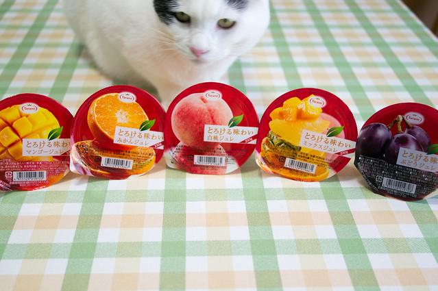Photo:たらみ とろける味わい ジュレ、ミカン・白桃・ぶどう・ミックス・マンゴー By hide10