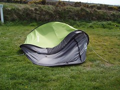 Our collapsed tent from the wind Image