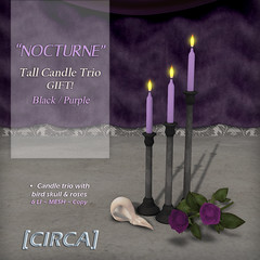 """Hunt Prize @ SWANK ~ [CIRCA] - """"NOCTURNE"""" - Tall Candle Trio - GIFT!"""