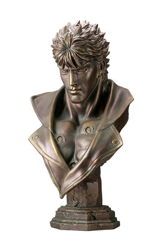 海洋堂 - MEGA SOFUBI ADVANCE MSA-012《北斗神拳》拳四郎 胸像 青銅調Ver メガソフビアドバンス ケンシロウ胸像
