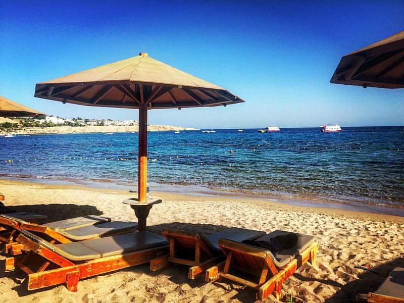 Días de playa en Egipto