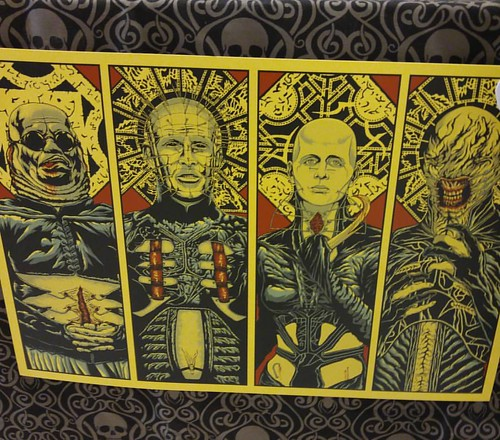 Bought this fucking rad print from @gorenoirmag at @sinistercreaturecon. Need to find a frame soon! #gorenoir #hellraiser #cenobites #cenobite #pinhead #butterball #thefemale #chatterer #femalecenobite #bodyhorror #clivebarker #sinistercreaturecon