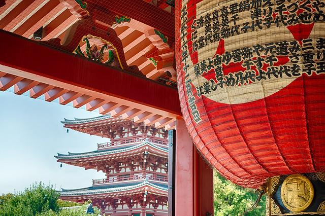 Red lantern at Sensoji Temple in Tokyo, Japan