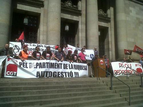 parlaments final manifestació de CGT a Barcelona #1maig2013