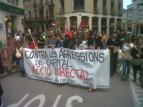 Pancarta Manifestació #vilafrancadelpenedès 1 maig 2013 #1maig2013 #1maigCGT