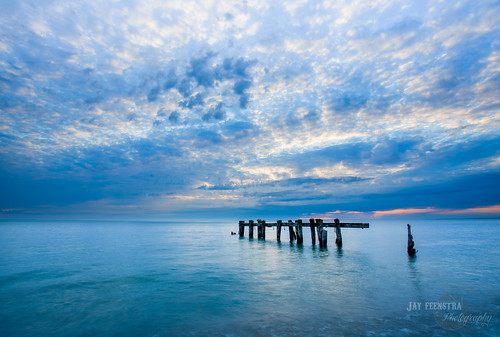 old blue sky lake ontario canada beach water clouds sunrise canon point pier hamilton posts 50 on