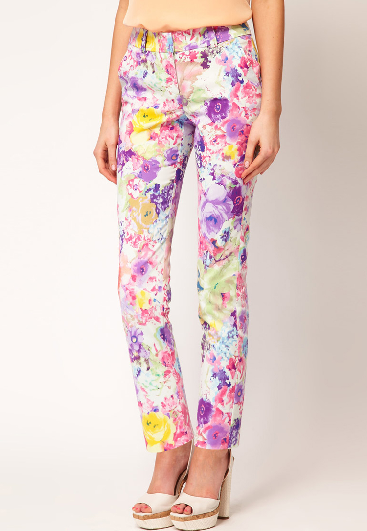 ASOS PETITE Exclusive Trousers In Floral Print
