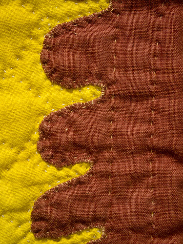 Brown and Yellow Quilting