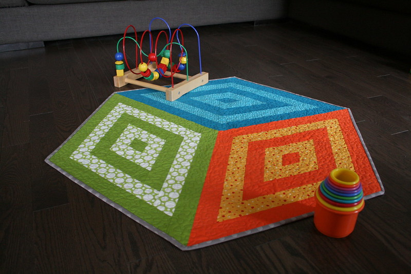 Tumble Block Playmat Quilt