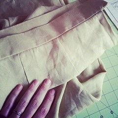 Pants 97% done. Just buttonhole, button and hem to go. Easy peasy.