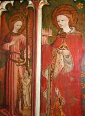 Angels and St Barbara (15th Century)
