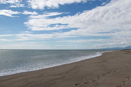 The beach on a rare sunny day!