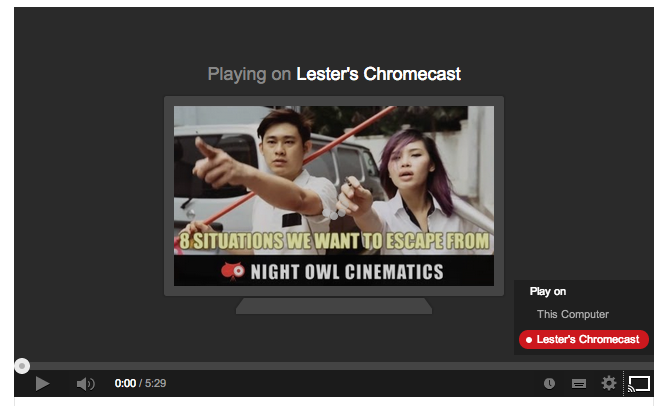 Google Chromecast - YouTube On Chrome For iMac