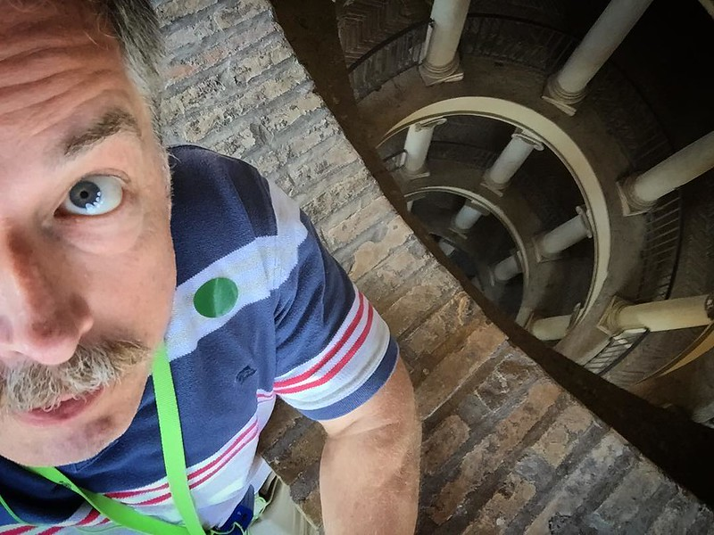 At the top of the Bramante Staircase