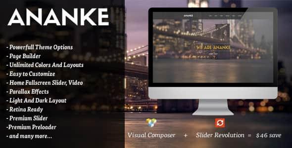 Ananke v3.2.8 - One Page Parallax WordPress Theme