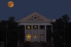Hunter's Moon rising over Main Administration