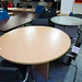 Beech circular meeting table â¬85
