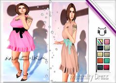 ~ϻ:MELiNA Maternity Dress 10 Colors HUD