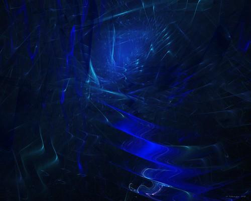 blue corridor by Wolfgang Schweizer