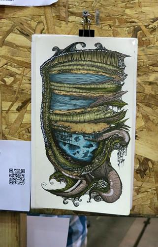 AAN2013 Marine Life by Nichole Musser Pen & Ink