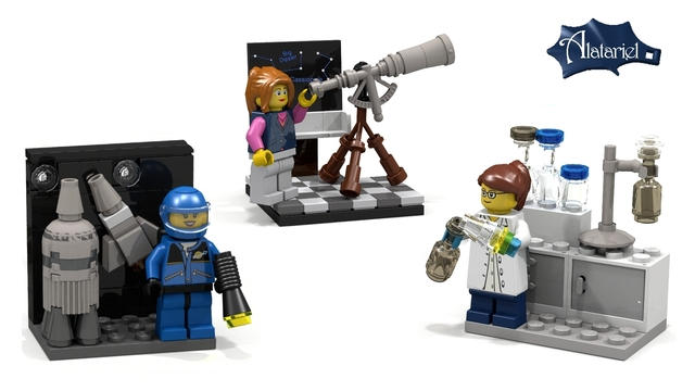 women in science lego set