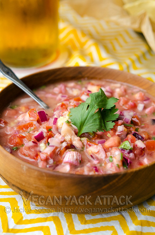 Vegan Ceviche - A no-fish take on this delicious and refreshing appetizer! Perfect for Cinco de Mayo parties.