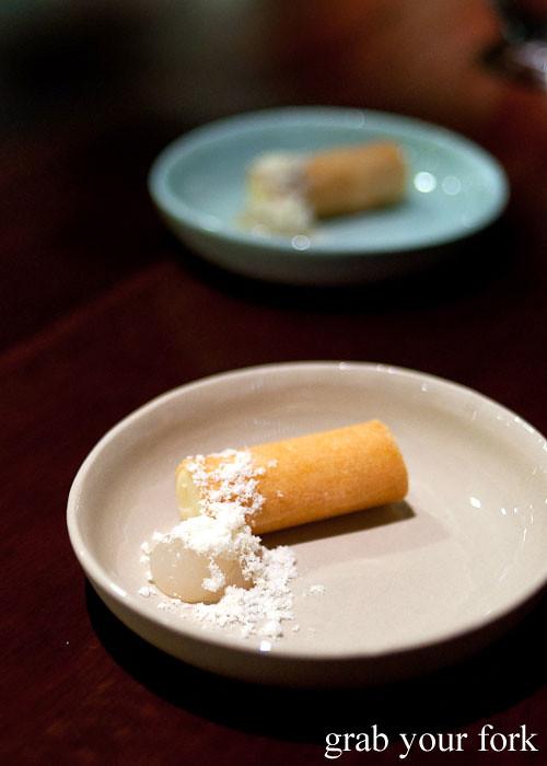 smoked potato and eel at momofuku seiobo the star sydney