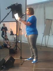 Die Karin bei textstrom Poetry Slam goes Stadtfest