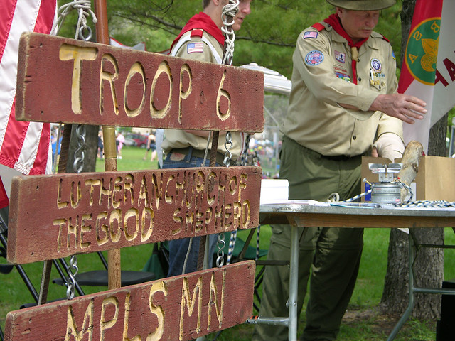 2013 Linden Hills Festival troop 6 axe man
