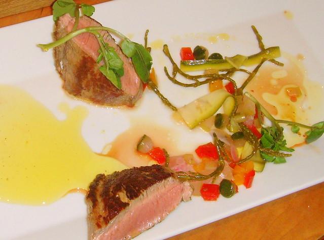 Chef Michael Harrison's dish at Nigel Haworth's Fantastic Food