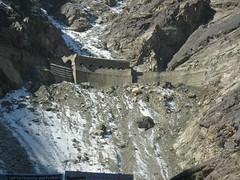 moraine, mountain, snow, rockfall, glacial landform, geology, terrain,