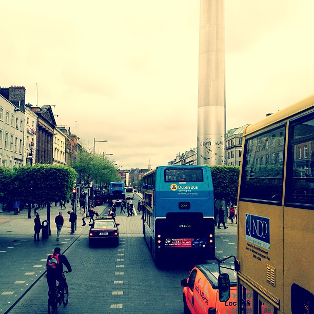 #dublin is sublime from the top of a double decker. #thespike #oconnelstreet #iannagoestoeurope