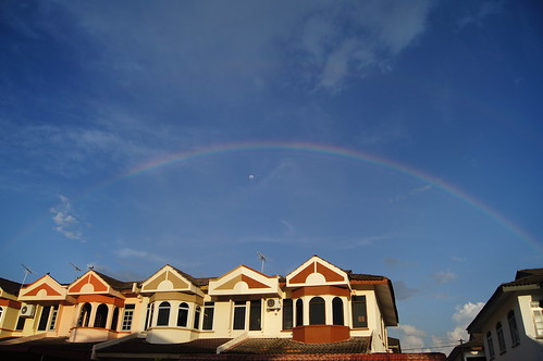 Rainbow with Moon