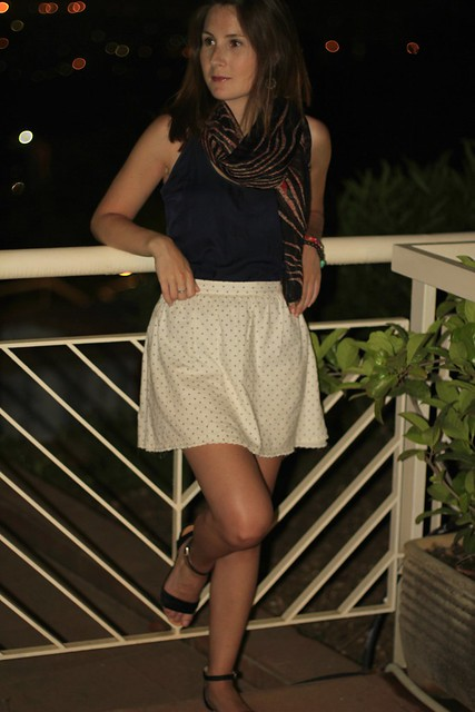 skirt tshirt and sandals