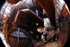 Afternoon sun on rusted ductwork, Carrie Furnaces, Rankin PA
