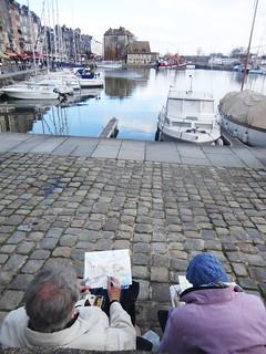 Pintores en el puerto.