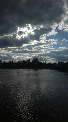 portrait sky cloud sun water finland river ndfilter kittilä ounasjoki nokia808pureview