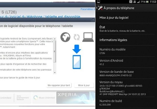Android 4.1.2 для Sony Xperia S
