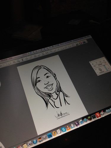 Digital live caricature for NTUC D&D 2013 - 3c