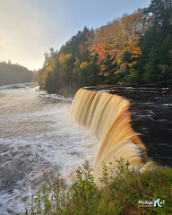Foggy morning at Tahquamenon Falls by Michigan Nut